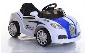 Oh Baby, Baby Battery Operated Car White Color With Remote Control And Mobile Music Connectivity For Your Kids SE-BOC-15