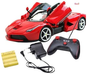 OH BABY, BABY & MUSICAL POWER WITH Remote Controlled RED COLOR Ferrari with Opening Door CAR FOR YOUR KIDS SE-ET-34