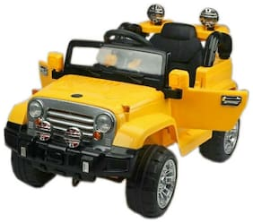 Oh Baby;Baby Battery Operated OPEN JEEP YELLOW Color With Remote Control;DUAL DOOR OPENING;MUSIC PLAYER And Mobile Music Connectivity For Your Kids SE-BOC-67