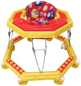 Oh Baby Baby Musical 8 Wheel yellow Color Walker For Your Kids SE-W-11