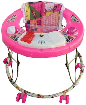 Oh Baby Baby Pink Color Musical Walker For Your Kids SE-W-41