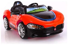 Oh Baby, Baby Battery Operated LED Light Car Red Color With Remote Control And Mobile Music Connectivity For Your Kids