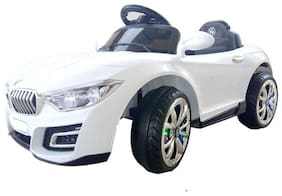 Oh Baby, Baby Battery Operated LED Light IN WHELL BMW Car WHITE Color With Remote Control And AND ORIGINAL MUSIC PLAYER For Your Kids SE-BOC-34