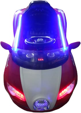 Oh Baby, Baby Battery Operated LED Light Car Red Color With Remote Control And Mobile Music Connectivity For Your Kids SE-BOC-16