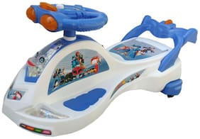 Oh Baby Baby Frog Shape With Back Support Musical Light Magic Car For Your Kids se-mc-10