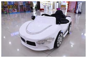 Oh Baby;Baby Battery Operated LED Light FARARI Car WHITE Color With Remote Control And Mobile Music Connectivity For Your Kids SE-BOC-32