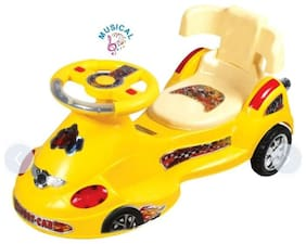 Oh Baby'' Baby Metro Train Magic Car With Multicolor Ride On Car With Light And Music With Back Support 80 Kg Weight Capacity For Girls And Boys With Best Quality Plastic For Ur Kids.