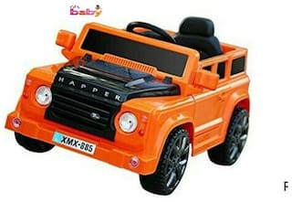 Oh Baby;Baby Battery Operated BMW i8 ORANGE Color With Remote Control And DOUBLE MOTOR AND DOUBLE BATTERY WITH ROCKING FUNCTION AND ORIGINAL Music SYSTEM For Your Kids SE-BOC-74