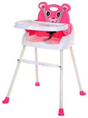 OH BABY, BABY Smart and Convertible High Chair Baby Feeding Chair (Pink)   FOR YOUR KIDS SE-ET-09