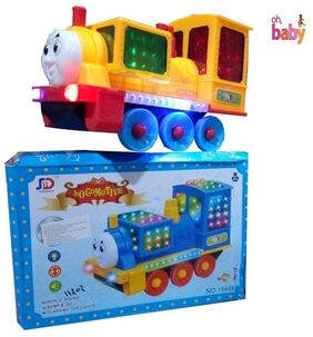 OH BABY, BABY 3D LIGHT & MUSICAL POWER WITH AUTOMATIC SENSOR LIGHT LOCO MOTIVE  ENGINE BLUE COLOR TOYS FOR YOUR KIDS SE-ET-28