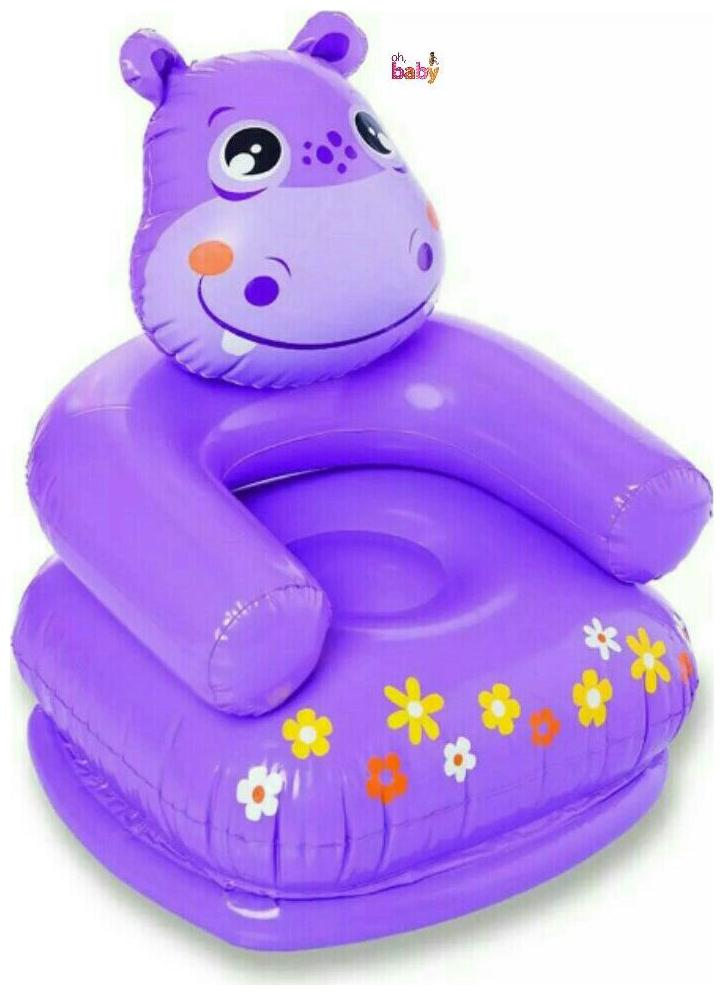 OH BABY, BABY 3D PURPLE COLOR Inflatable HAPPY HIPPO Chair FOR YOUR...