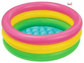 OH BABY, BABY  INTEX Multi Color TUB Inflatable Water  6 inch heavy plastic Pool FOR YOUR KIDS SE-AT-09