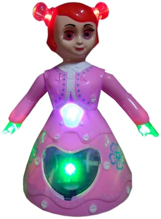 OH BABY, BABY 3D LIGHT & MUSICAL POWER WITH AUTOMATIC SENSOR PINK COLOR (3d Dancing Princess Doll Musical Toy For Kids SE-ET-25