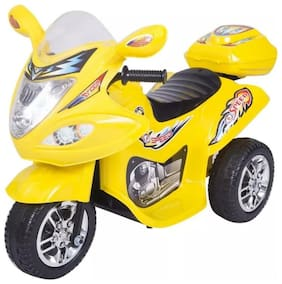 'Oh Baby'' Baby Battery Operated Bike With Musical Sound And Back Basket 3-Wheel  Battery Operated Ride On Bike  With Music, Horn, Headlights With 25 kg Weight Capacity For Your Kids SE-BOB-41