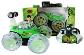 OH BABY, BABY & MUSICAL POWER WITH Remote Controlled GREEN COLOR BAN 10 with CAR FOR YOUR KIDS SE-ET-31