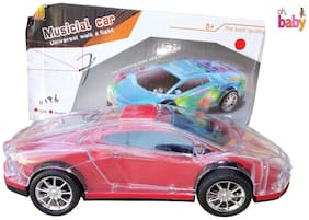 OH BABY, BABY 3D LIGHT & MUSICAL POWER WITH AUTOMATIC SENSOR  ferrari WHITE COLOR CAR FOR YOUR KIDS SE-ET-03