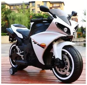 Oh Baby, Baby Battery Operated Yamaha R15 Model Bike white Color With Musical Sound For Your Kids SE-BOB-15
