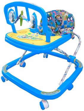 Oh Baby Baby Adjustable Musical Walker With Blue Color For Your Kids SE-W-65