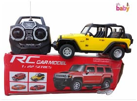 OH BABY, BABY 3D LIGHT & MUSICAL POWER WITH AUTOMATIC SENSOR  YELLOW COLOR 'Remote Control' JEEP FOR YOUR KIDS SE-ET-18