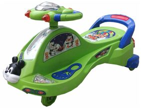Oh Baby Baby Frog Shape With Back Support Musical Light Magic Car For Your Kids SE-MC-13
