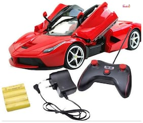 OH BABY, BABY  & MUSICAL POWER WITH  Remote Controlled RED COLOR  Ferrari  with Opening Door CAR FOR YOUR KIDS SE-ET-38