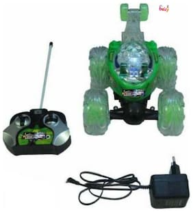 OH BABY, BABY & MUSICAL POWER WITH Remote Controlled GREEN COLOR BAN 10 with CAR FOR YOUR KIDS SE-ET-33