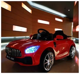 OH BABY, BABY  BATTERY OPERATED MERCEDES-BENZ AMG CAR - RED COLOER SE-BOC-79