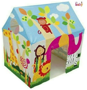 Oh Baby, Baby PLAY HOUSE HUT SHAPE TENT WITH  PRINTED DESIGN FOR YOUR KIDS SE-BH-01
