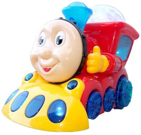 OH BABY, BABY 3D LIGHT & MUSICAL POWER WITH AUTOMATIC SENSOR LIGHT TRAIN RED COLOR TOYS FOR YOUR KIDS SE-ET-19