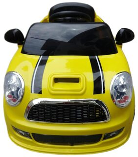 Oh Baby, Baby Battery Operated Car Yellow Color With Remote Control And Mobile Music Connectivity For Your Kids SE-BOC-02
