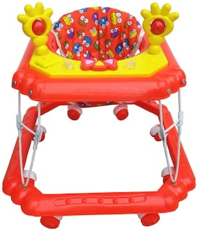 Oh Baby, Baby Square Shape Pilastic Boby Red Color Music With Light  Walker For Your Kids SE-W-89