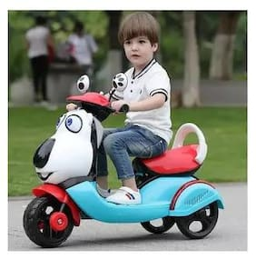OH Baby Battery Operated Rechargeable Electric Ride On Bike Scooter With mp3 Music System & Musical light And 30 Kg Weight Capacity (OTHER CORRECTOR BATTERY SCOOTER AVAILABLE)FOR YOUR KIDS