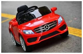 Oh Baby, Battery Operated OFFICIAL LICENSED PRODUCT Mercedes CAR With USB Connectivity For Music And Remote Control With Double Moter And Double Battery With Rocking Function, For Your Kids