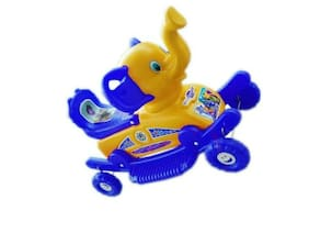 Oh Baby Coshmo Baby Branded  Plastic Horse With Rocking Function And Running Ride On  With Amazing Color For Your Kids .