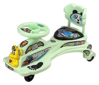 Oh Baby Dora Magic Car Character Swing Magic Car Ride On For Kids Of Above 2 Years With Free Wheels Music Light & Back Rest Strongest And Smoothest Pvc Wheels & Abec Bearing Fun For Kids