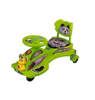 Oh Baby Dora Magic Car Character Swing Magic Car Ride On For Kids Of Above 2 Years With Free Wheels;Music;Light & Back Rest Strongest And Smoothest Pvc Wheels & Abec Bearing Fun For Kids