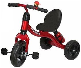 OH BABY kid metal tricycle COLOR RED with sipper SE-TC-59