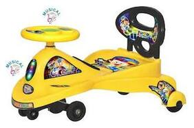 Oh Baby Light Magic Car Character Swing Magic Car Ride On For Kids Of Above 2 Years With Free Wheels;Music;Light & Back Rest Strongest And Smoothest Pvc Wheels & Abec Bearing Fun For Kids