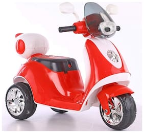 OH BABY Little Chime Baby Scooter Battery Operated Ride on Bike with Music and Light (RED)FOR YOUR KIDS