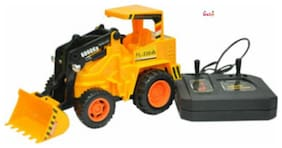 OH BABY & MUSICAL POWER WITH Remote Controlled YELLOW COLOR TRUCK STANT CAR with CAR FOR YOUR KIDS SE-ET-30