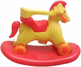 Oh Baby Plastic Horse With Wheel