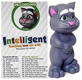 Oh Baby Talking Tom With Wonderful Voice Musical With Automatic Intelligent Sensor White Color For Your Kids