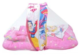 oh baby The Great Indian Baby Play Gym Cum Bedding Set With Free Pillow & Mosquito net SE-PG-45