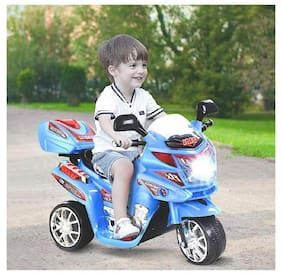 Oh Baby Baby Battery Operated Bike With Musical Sound And Back Basket 3-Wheel  Battery Operated Ride On Bike  With Music, Horn, Headlights With 25 Kg Weight Capacity For Your Kids