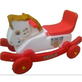 Oh BabyMulticolor Rocking Plastic Horse With Wheel SE-RT-01