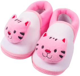 Ole Baby Pink Booties For Infants