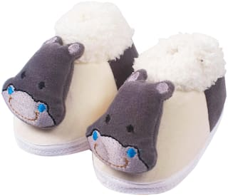 Ole Baby Grey Booties For Infants