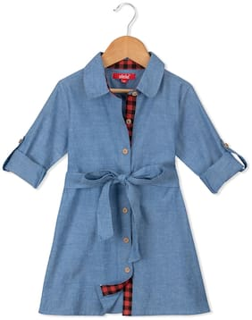 6dedde16c8 Olele Chambray Dress with Contrast Lining