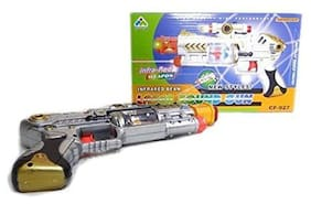 ONCEMORE By New Car Laser Gun with Flashing Light and Sound Toy for Kids Assorted
