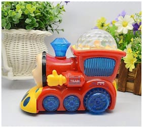 ONCEMORE By New Car tump and Go Musical Engine Truck Train with 4D Light and Sound Assorted